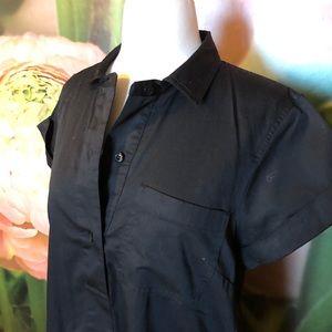 JCrew black button down T-shirt dress